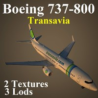 3d boeing 737-800 tra