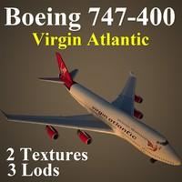 3d boeing 747-400 vir model