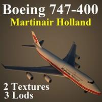 3d model boeing 747-400 mph