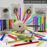 3d model kids drawing kit