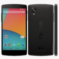 lg nexus 5 black 3d model