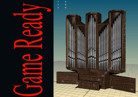 church pipe organ 3d model