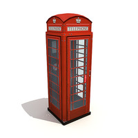 British phone booth (low-poly).