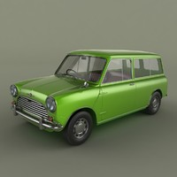 3d morris mini minor traveller