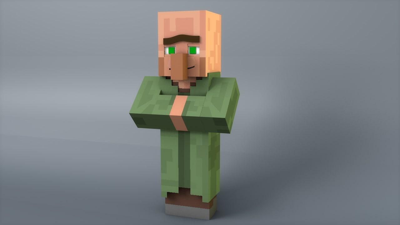 Minecraft rig 3d model Minecraft 3d model maker