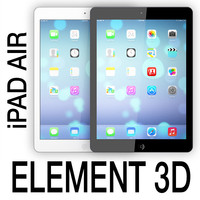 3d model apple ipad air element