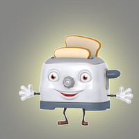 3d model cartoon toaster