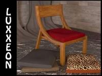 arc chair seat 3d max