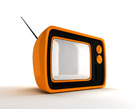 retro portable tv obj