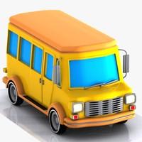 Cartoon Minibus 1