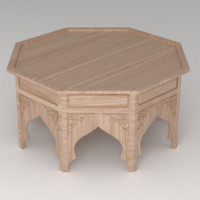 moroccan table 3d 3ds