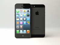 3d apple iphone 5 model