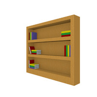 3d book bookshelf shelf