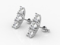earrings diamond 3d 3dm