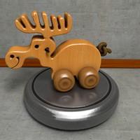 3d model wooden moose