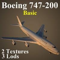 3d boeing 747-200 basic model