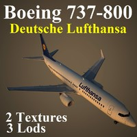3d max boeing 737-800 dlh