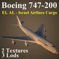 3d model boeing 747-200 ely