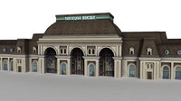 3d train station moscow ready model