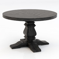 Restoration Hardware Pedestal Salvaged Round Table