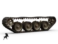 3d model of track strv-103 tank