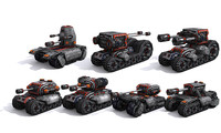 3d combat tanks set