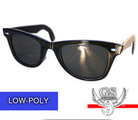 3d glasses fashion wayfarer model