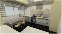 kitchen designed 3d model