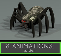maya spider 8 animations