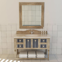 bathroom cabinet 3d max