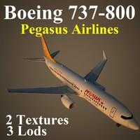 3dsmax boeing 737-800 pgt
