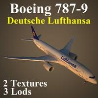 boeing 787-9 dlh 3d max