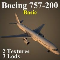3d boeing 757-200 basic