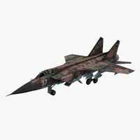 3ds max mikoyan mig-31 foxhound