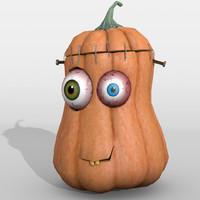 3d obj halloween pumpkin