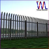 metal fencing 3d model