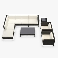 Garden Furniture - Synthetic rattan Corner, Armchair, Loveseat, coffee table, side table, ottoman