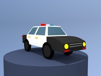 cartoon car toon 3d model