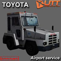 3d airport tractor toyota model