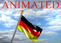 3d germany german flag
