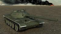 3ds max medium tank t-54-3 t-54s