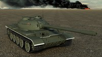 medium tank t-54-3 t-54s 3d max