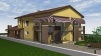 residential building 3d c4d