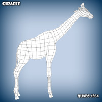base mesh giraffe obj