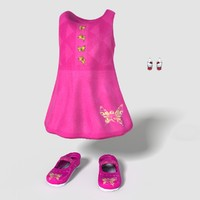 child girl outfit obj