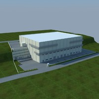3d model of factory building