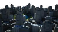 cityscape scene 3d model