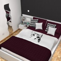 3d max bedroom bed