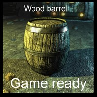 maya wood barrel