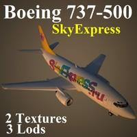 3d model of boeing 737-500 sxr